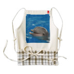 Lovable Dolphin Zazzle HEART Apron